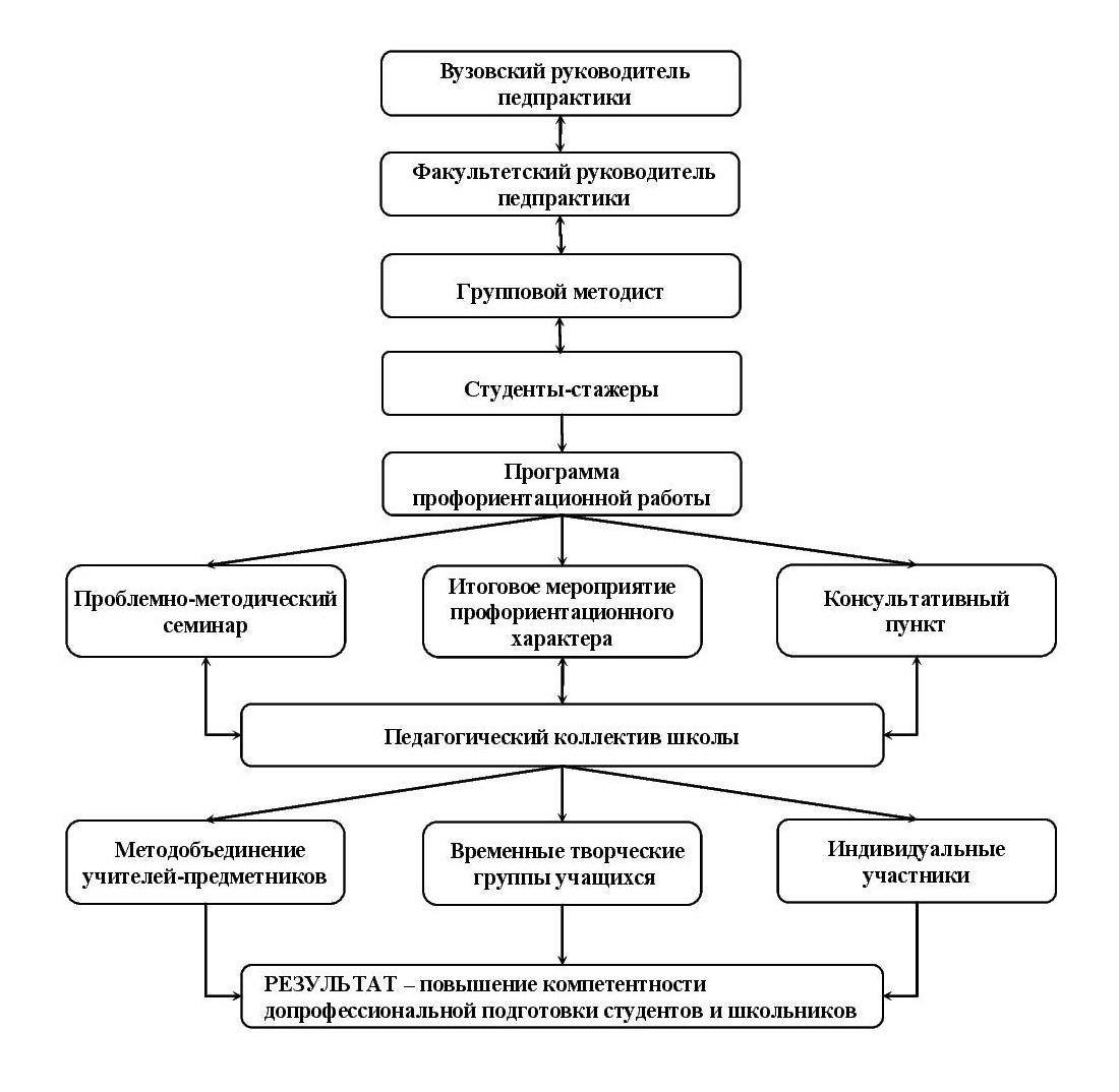 Организационная модель профориентационной работы